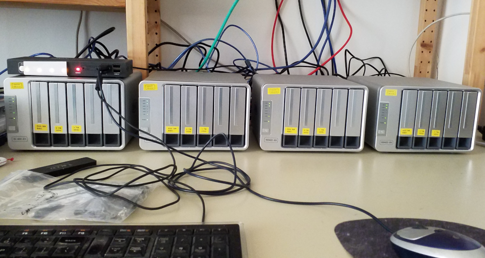 picture of my 4 F5-422 nodes in their temporary location